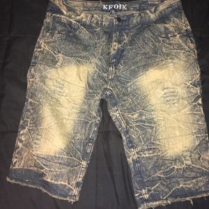 Kroix shorts gold and blue